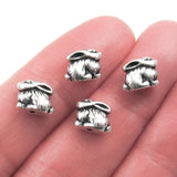 Silver Bunny Rabbit Beads