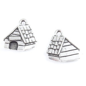 Silver Dog House Charms