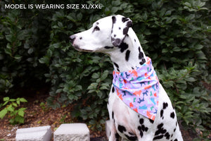 Dog Bandana - Retro Floral Cotton Dog Scarf