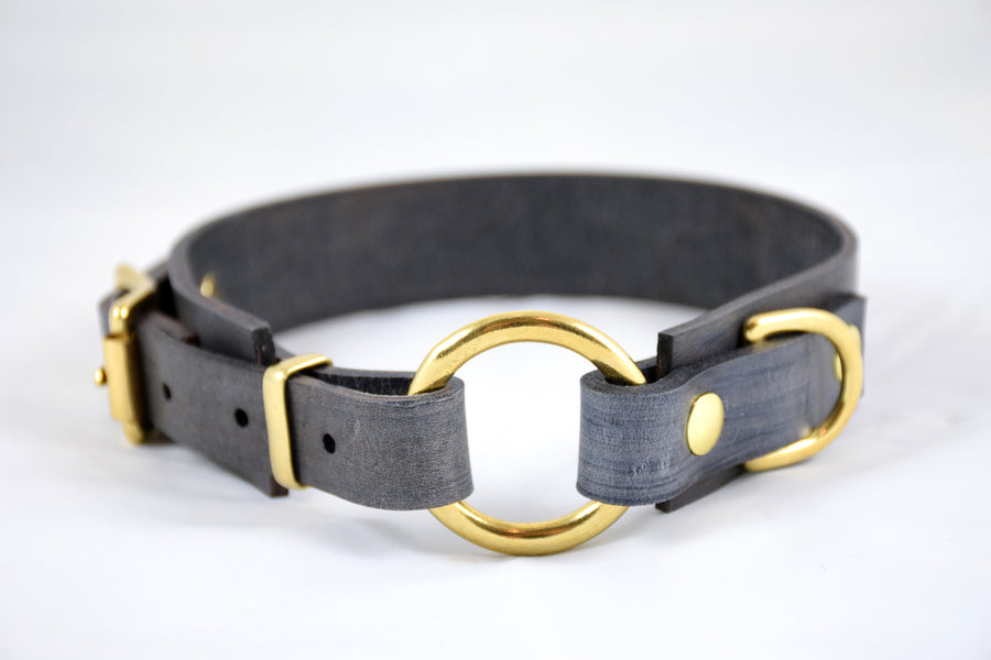 Design Your Own - The Osgiliath Collar, Leather O-Ring Collar