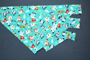 Dog Bandana - RoboDogs Cotton Dog Scarf