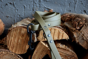 PREMADE COLLECTION - Olive & Black Biothane Dog Leash