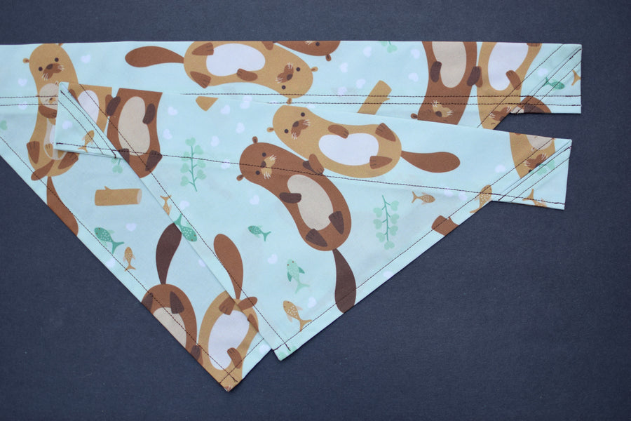 Dog Bandana - Floating Friends Cotton Dog Scarf