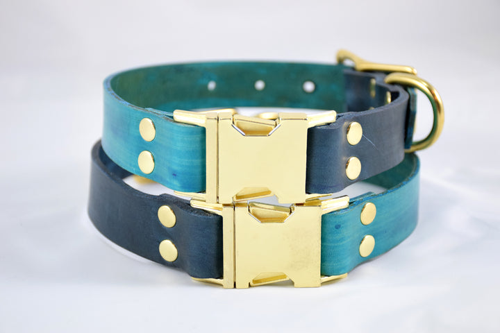 Design Your Own - The Elessar QR Collar, Quick Release Leather Dog Collar