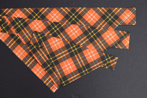 Dog Bandana - Harvest Plaid Halloween Cotton Dog Scarf