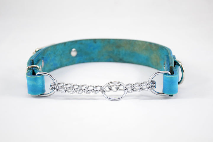 Design Your Own - The Anduril Collar, Leather & Nickel Martingale Collar