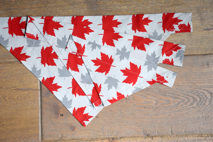 Dog Bandana - Canuck Cotton Dog Scarf