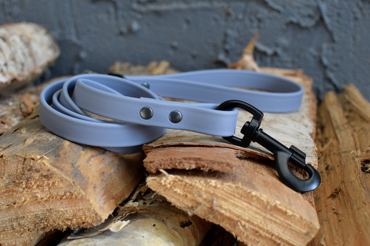 PREMADE COLLECTION - Grey & Black Biothane Dog Leash