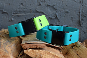 PREMADE COLLECTION - Teal & Black Biothane Dog Collar