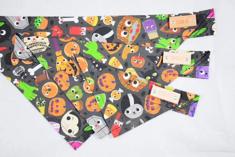 Dog Bandana - Halloween Bash Cotton Dog Scarf