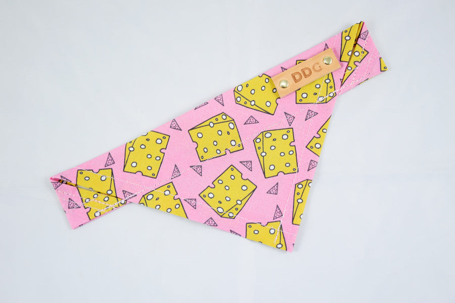 Dog Bandana - Cut The Cheese Cotton Dog Scarf