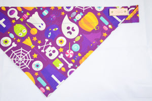 Dog Bandana - Frankenstein's Lab Halloween Cotton Dog Scarf