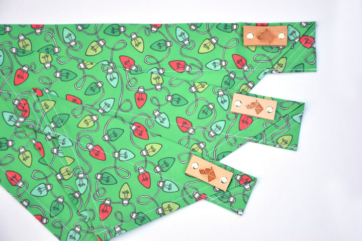 Dog Bandana - Glittering Lights Winter Holiday Cotton Dog Scarf