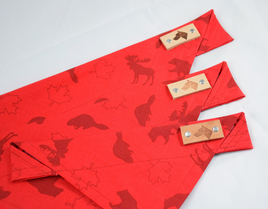 Dog Bandana - Canadian Icons Canada Day Cotton Dog Scarf
