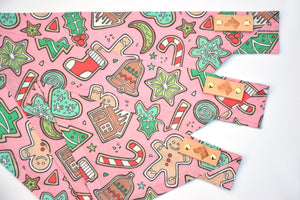 Dog Bandana - Sugar Cookies Winter Holiday Cotton Dog Scarf