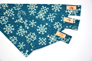 Dog Bandana - Winter Wonderland Winter Holiday Cotton Flannel Dog Scarf