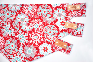 Dog Bandana - Frosted Snowflake Winter Holiday Cotton Dog Scarf