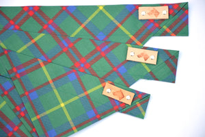 Dog Bandana - Festive Plaid Winter Holiday Cotton Dog Scarf