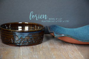 DDG Nourish Stoneware Collection: LORIEN, Large Bowl & Platter Set