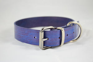 The Pelennor Collar: Purple Leather Dog Collar