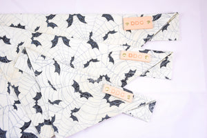 Dog Bandana - Batty Halloween Cotton Dog Scarf