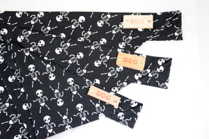 Dog Bandana - Skellies Halloween Cotton Dog Scarf