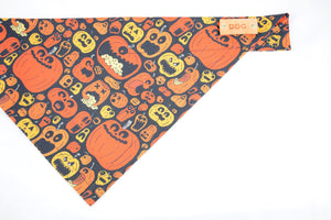 Dog Bandana - Monster Mash Halloween Cotton Dog Scarf