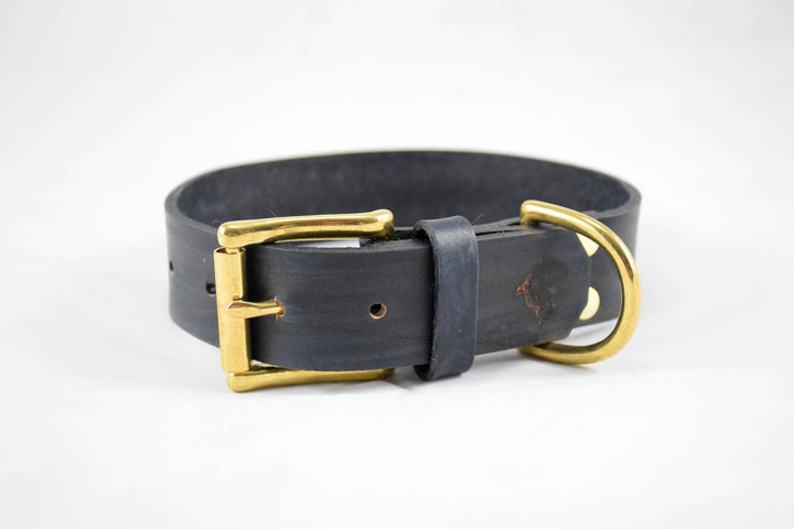 The Undomiel Collar: Walnut Leather Dog Collar
