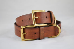 The Undomiel Collar: Timber Brown Leather Dog Collar