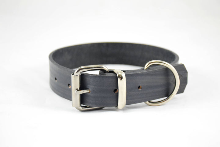 The Pelennor Collar: Walnut Leather Dog Collar