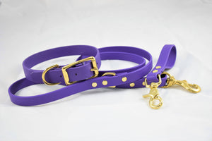 Biothane & Brass Short Leash Key Fob - Purple