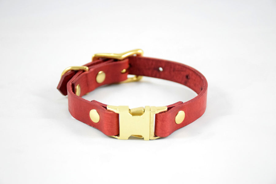 Design Your Own - The Halfling QR Collar, Quick Release Leather Dog Collar