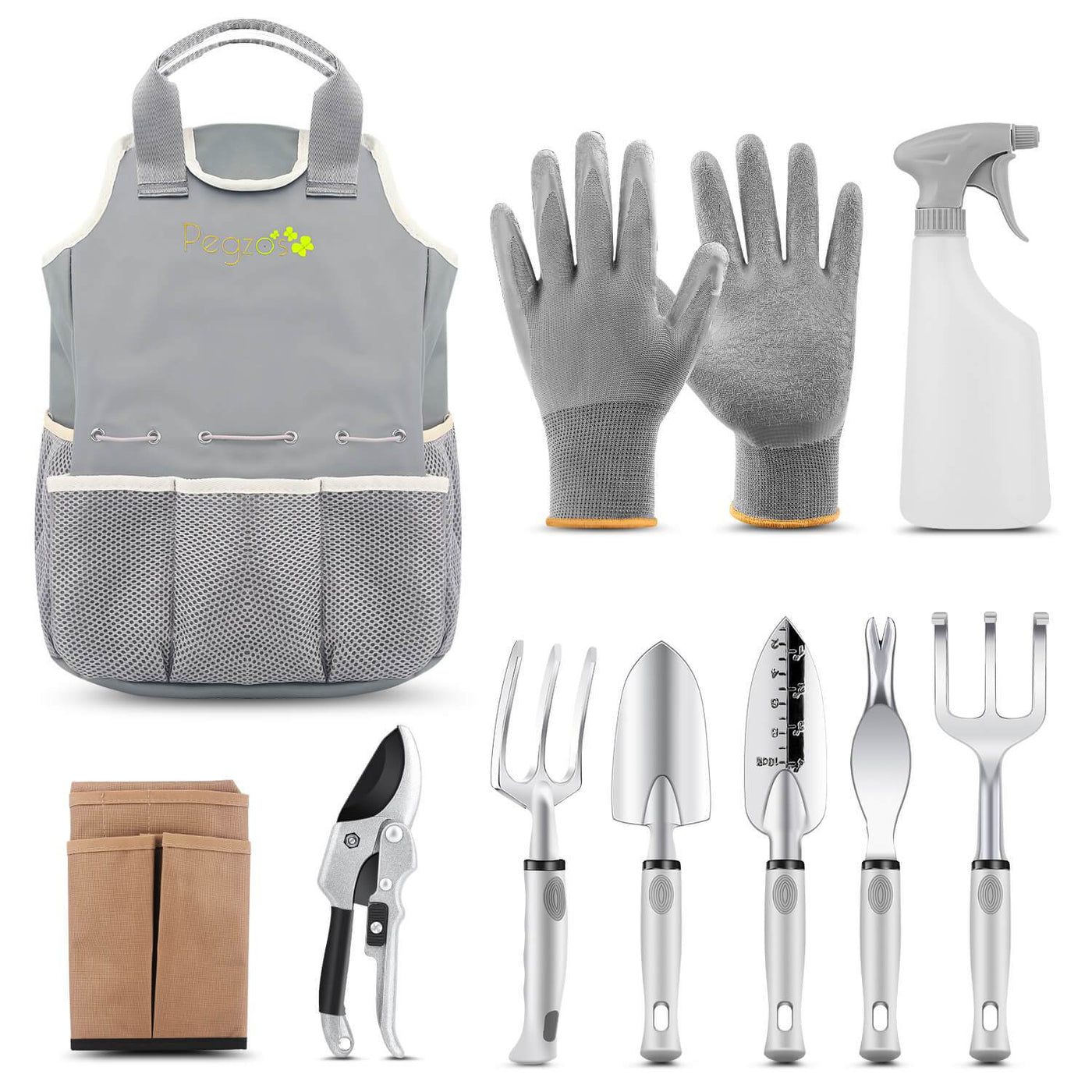 PEGZOS 10 Piece Garden Tools Set   CasaGardens.com ...