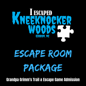 KneeKnocker Woods Escape Room Package