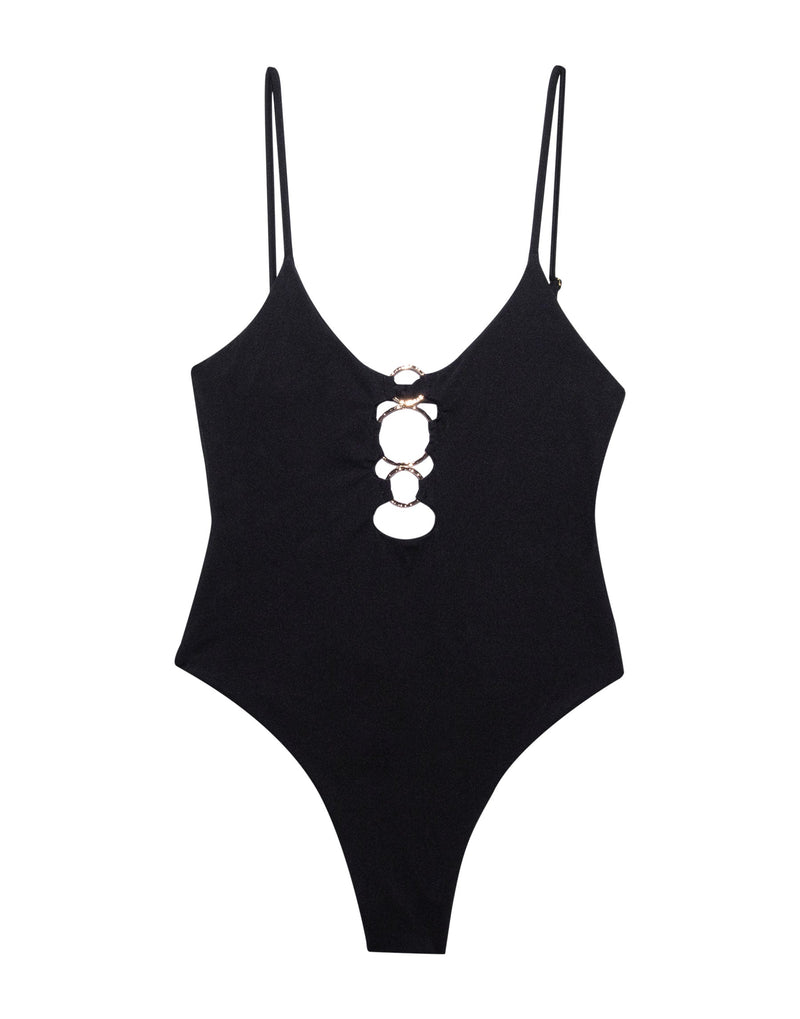 Katrina One Piece Swimsuit in Black - Product View