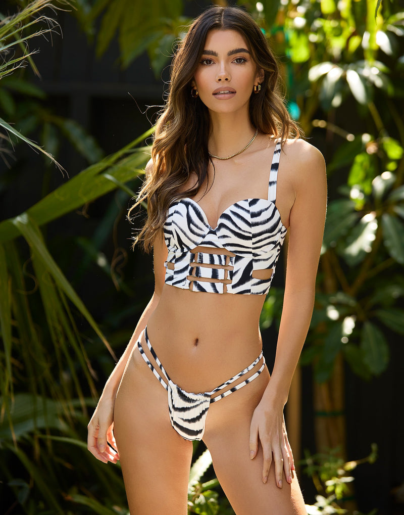 Kingston Bustier Top - Zebra