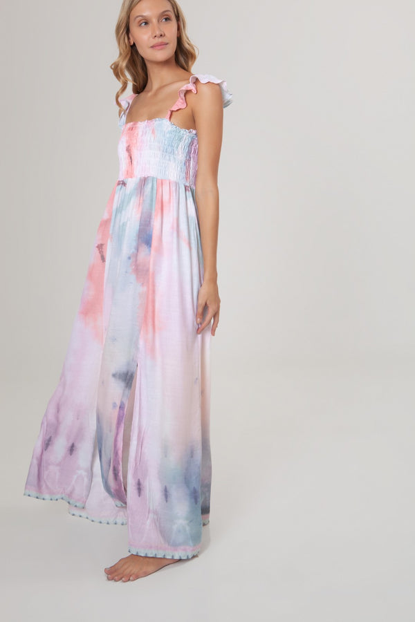 LEANDRA SHIBORI DRESS