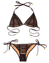 Black Hard Summer Tie Side Swimsuit - product view