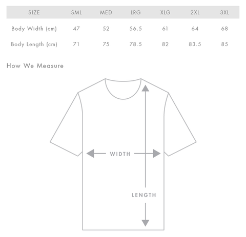 T-Shirt Measurements