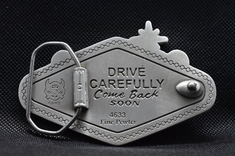 belt buckle with special message