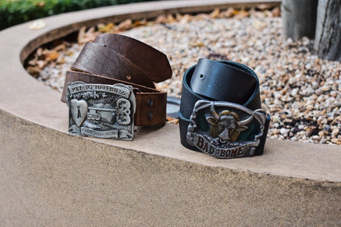 custom leather belts with buckle