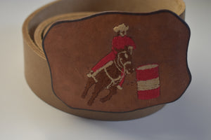 Leather Belt Buckles Rodeo Cowboy