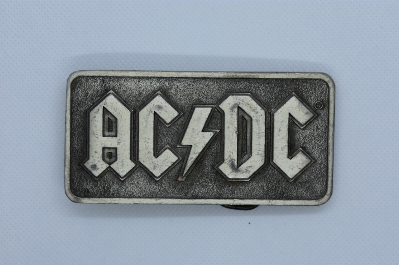 custom belt buckle ac/dc