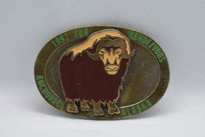 custom belt buckle aries image