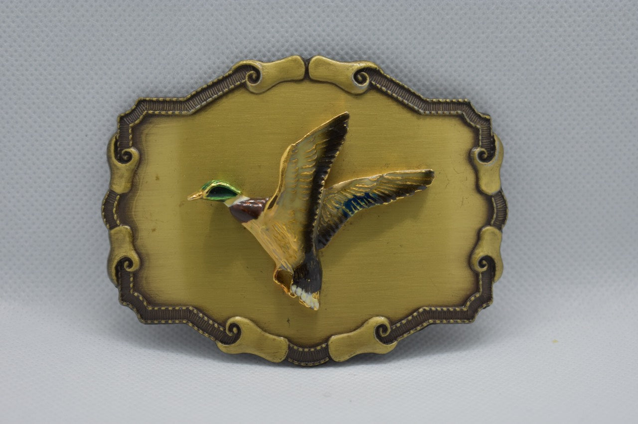 Custom Belt Buckles - The flying duck