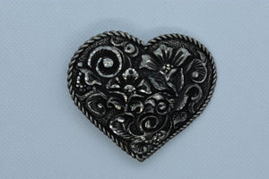 custom belt buckles floral covered heart