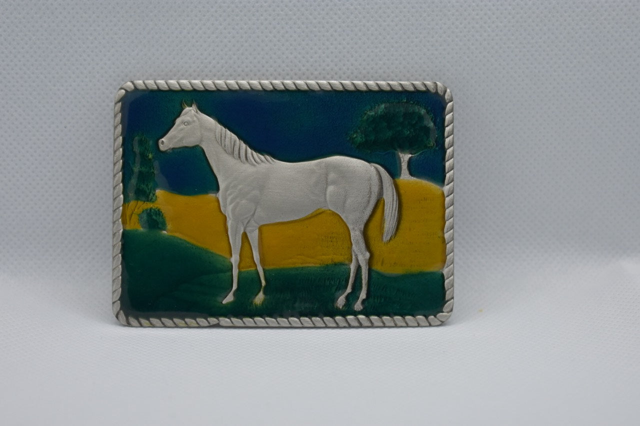 custom belt buckles - horse