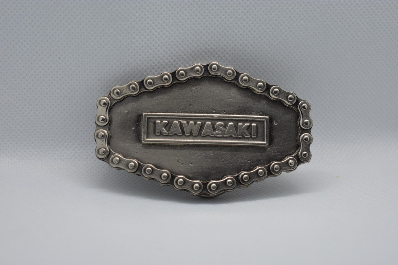 custom belt buckles - kawasaki motors