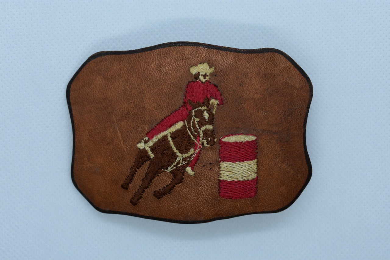 custom leather belt buckles rodeo cowboy