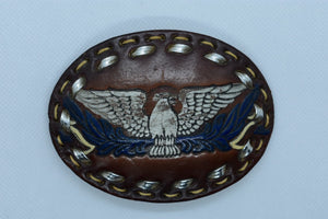 custom leather belt buckles cowboy & western